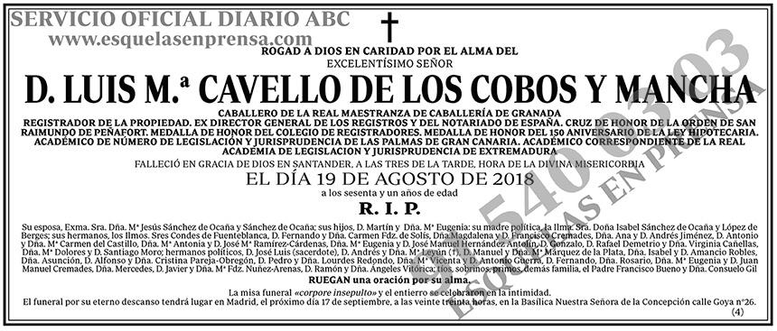 Luis M.ª Cavello de los Cobos y Mancha